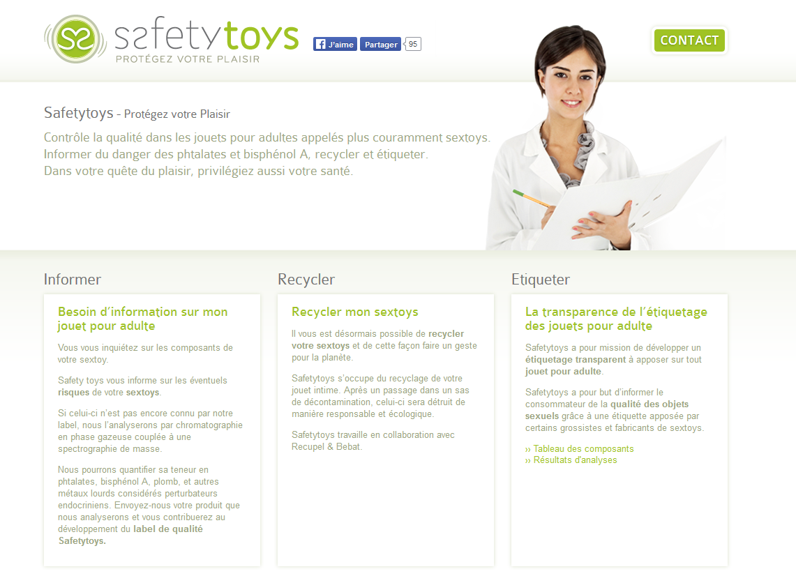 Le site internet de Safetytoys